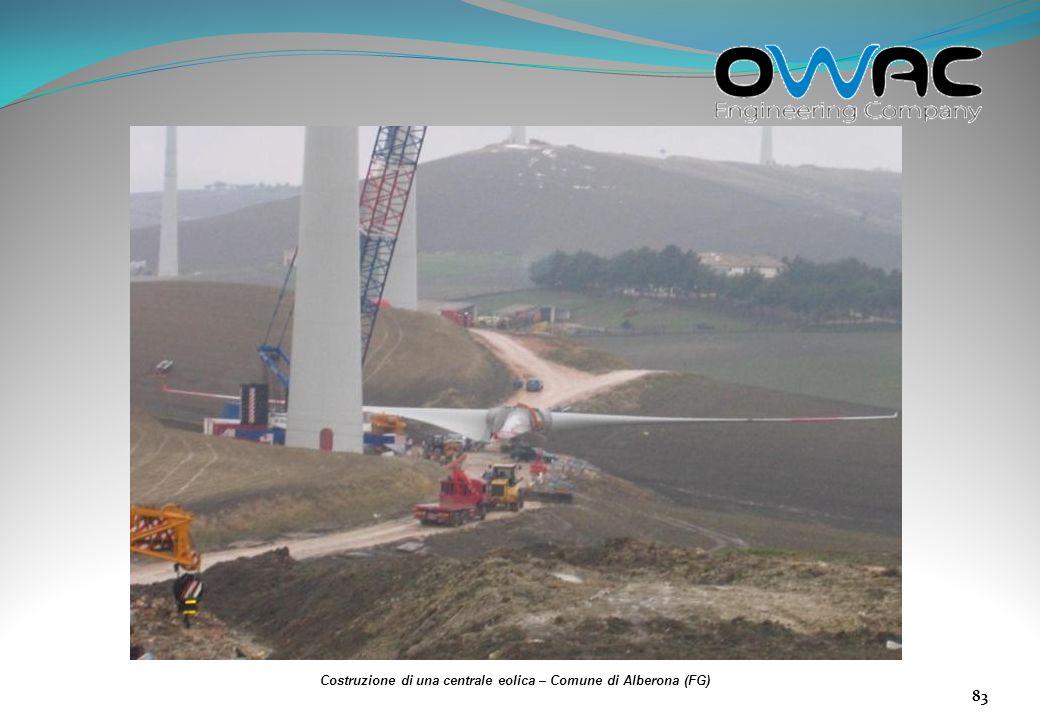 Costruzione di una centrale eolica – Comune di Alberona (FG)