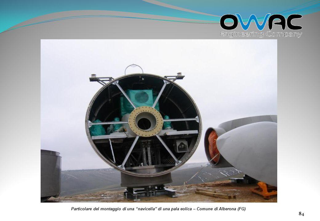Particolare del montaggio di una navicella di una pala eolica – Comune di Alberona (FG)