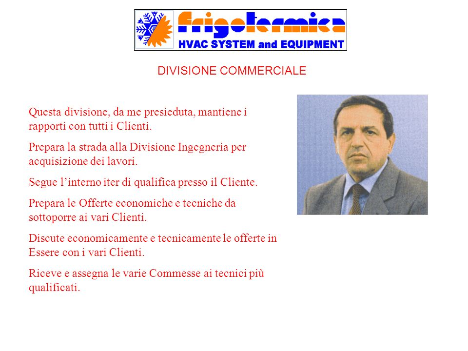 DIVISIONE COMMERCIALE