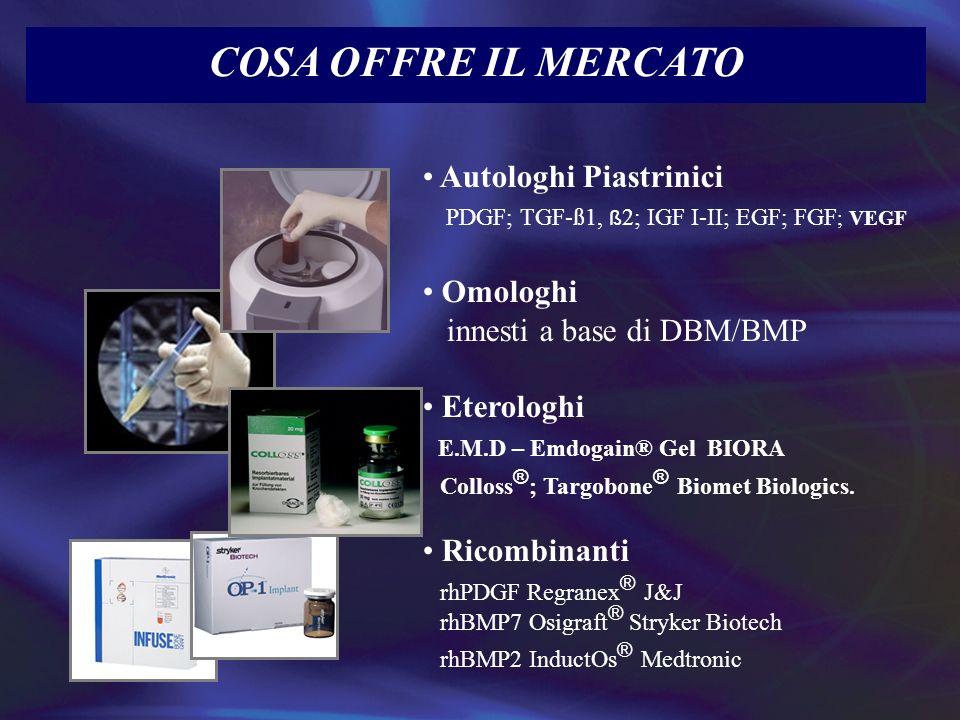 COSA OFFRE IL MERCATO Autologhi Piastrinici