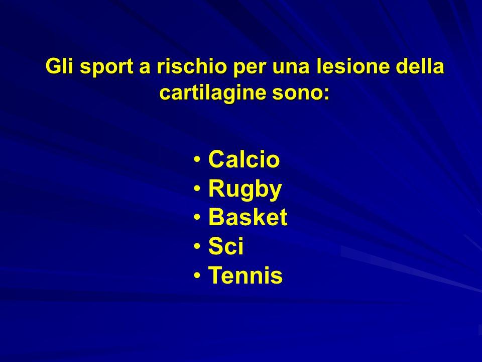 Gli sport a rischio per una lesione della cartilagine sono: