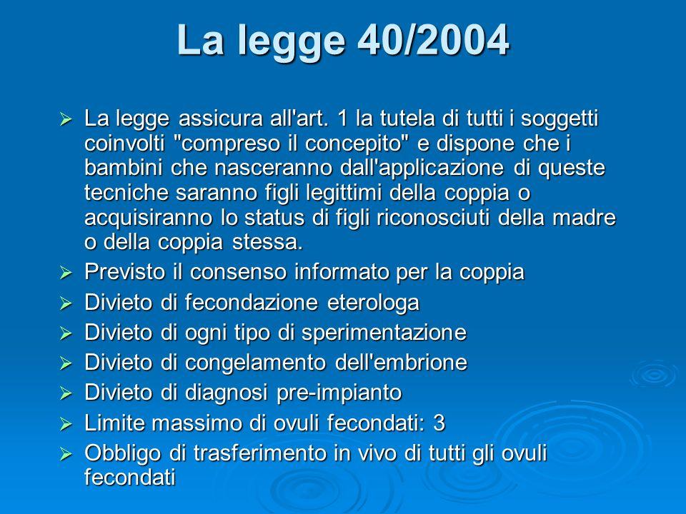 La legge 40/2004