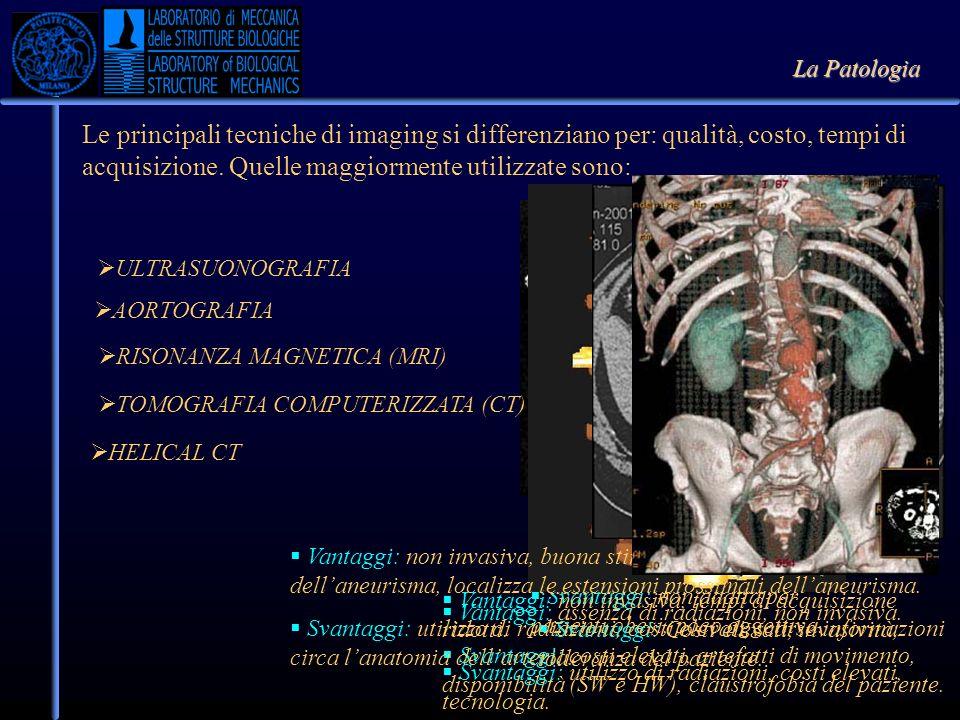 La Patologia Le principali tecniche di imaging si differenziano per: qualità, costo, tempi di acquisizione. Quelle maggiormente utilizzate sono: