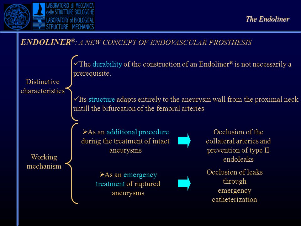 ENDOLINER®: A NEW CONCEPT OF ENDOVASCULAR PROSTHESIS