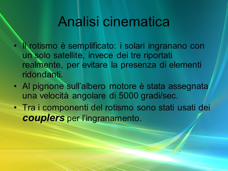 Analisi cinematica
