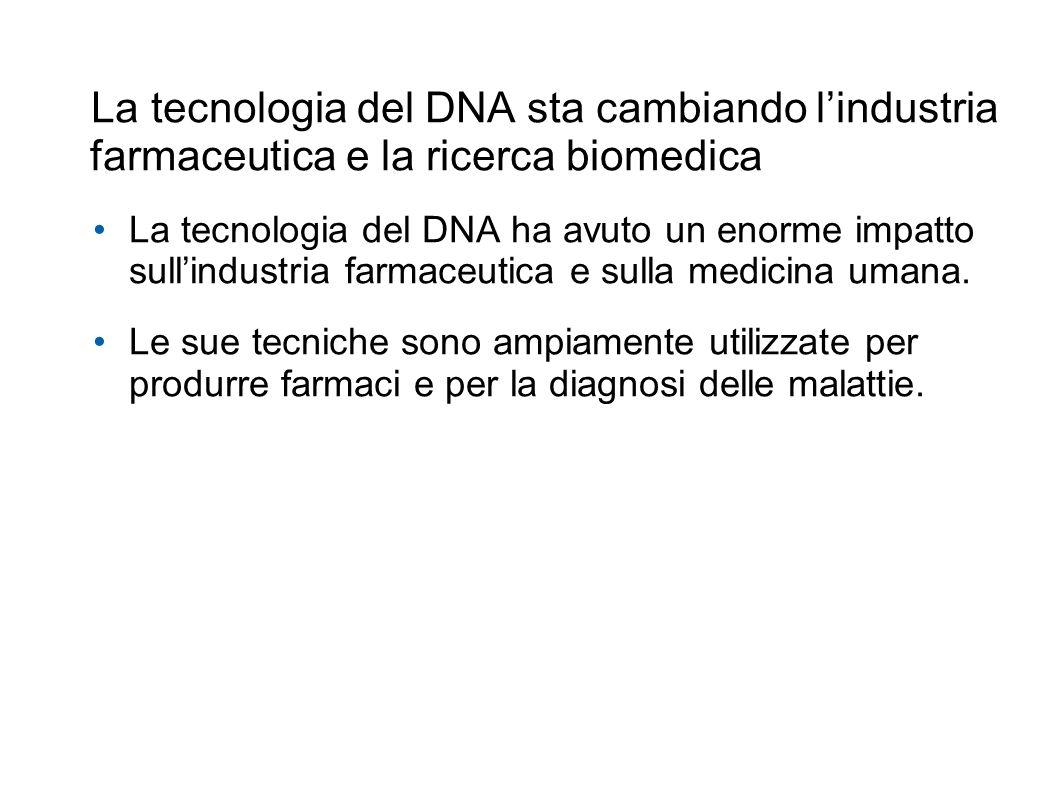 La tecnologia del DNA sta cambiando l'industria farmaceutica e la ricerca biomedica