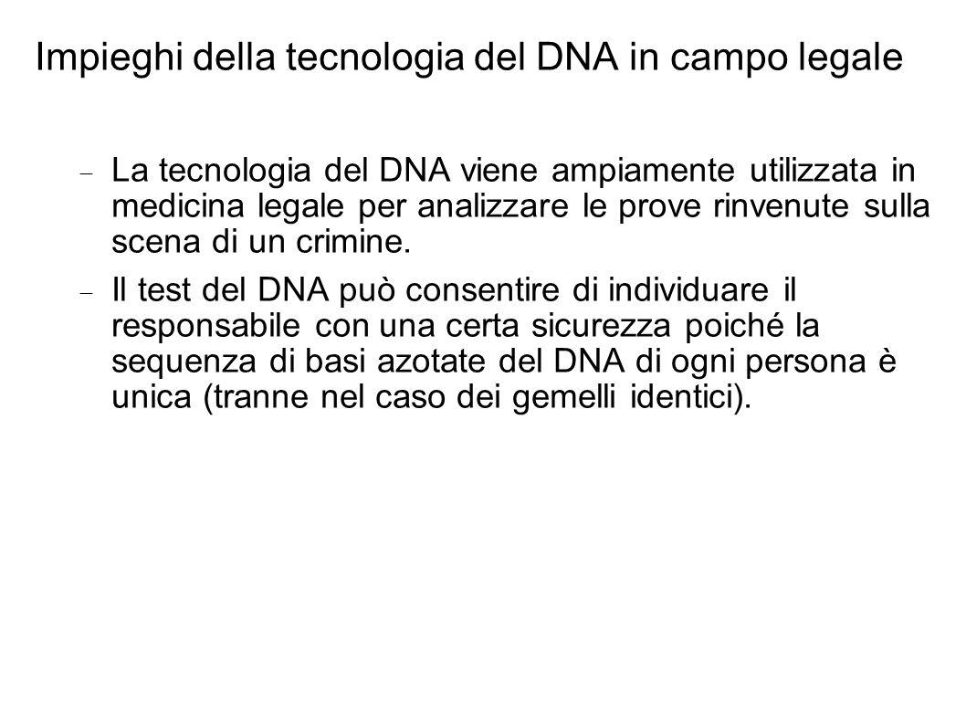 Impieghi della tecnologia del DNA in campo legale