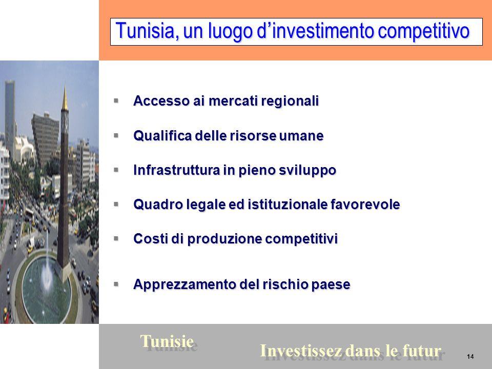 Tunisia, un luogo d'investimento competitivo