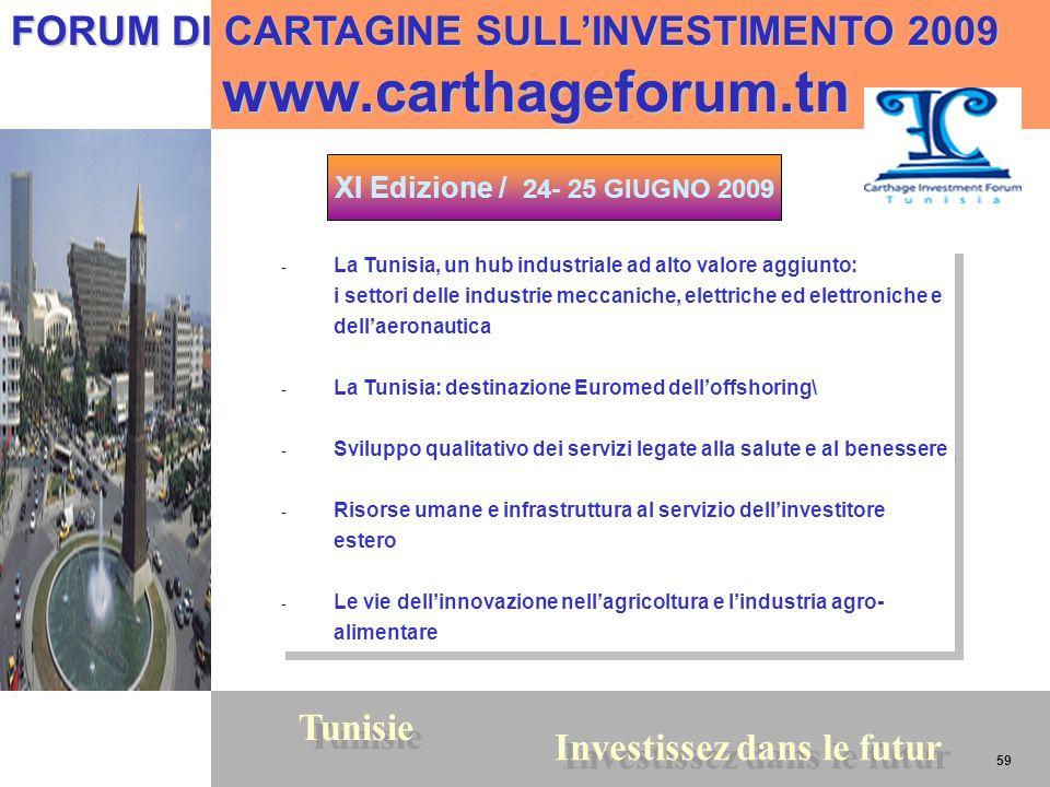 www.carthageforum.tn FORUM DI CARTAGINE SULL'INVESTIMENTO 2009