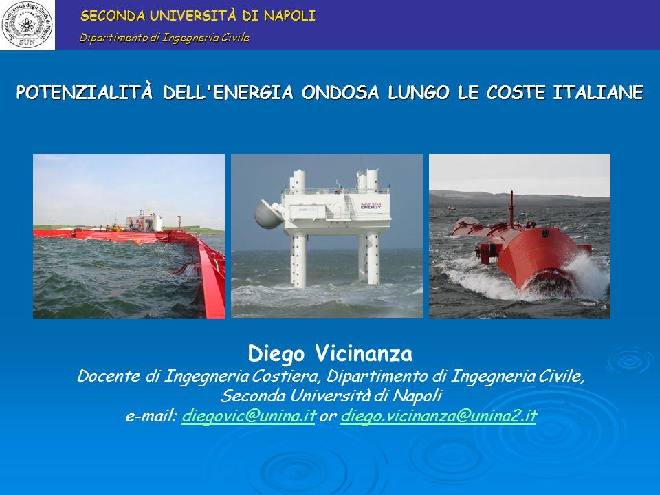 POTENZIALITÀ DELL ENERGIA ONDOSA LUNGO LE COSTE ITALIANE