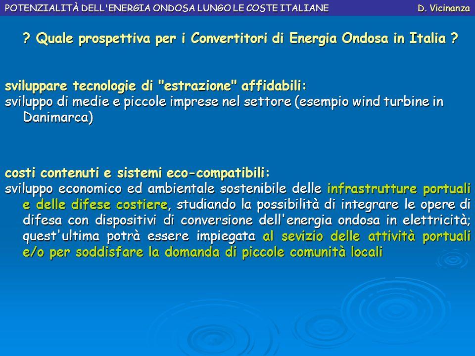 Quale prospettiva per i Convertitori di Energia Ondosa in Italia