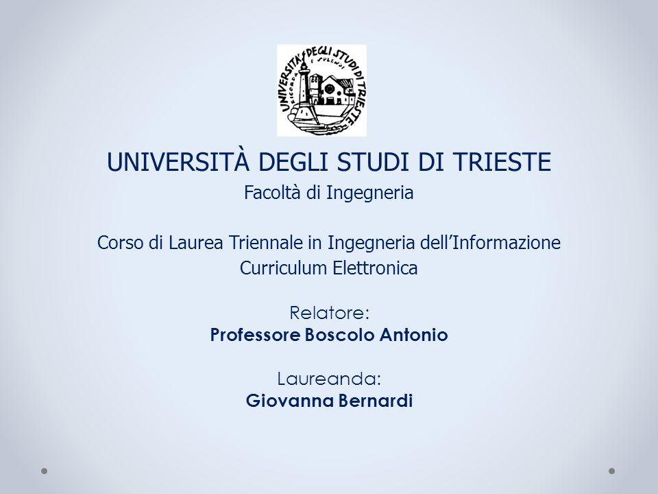 Relatore: Professore Boscolo Antonio Laureanda: Giovanna Bernardi