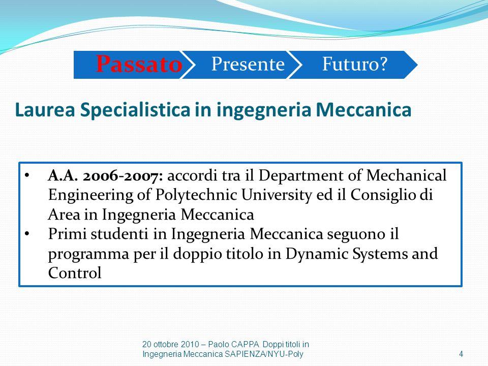 Laurea Specialistica in ingegneria Meccanica