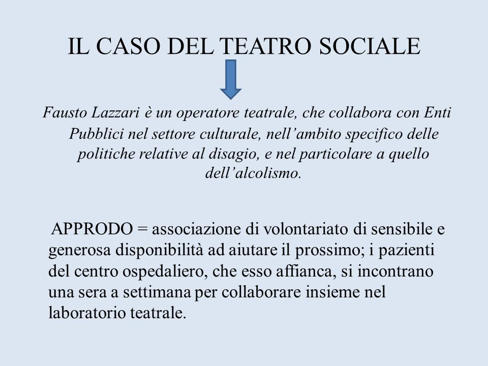 IL CASO DEL TEATRO SOCIALE