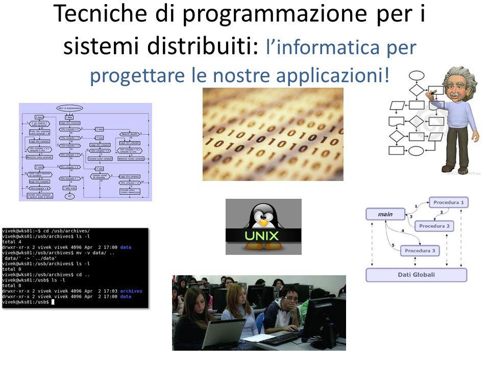 Tecniche di programmazione per i sistemi distribuiti: l'informatica per progettare le nostre applicazioni!