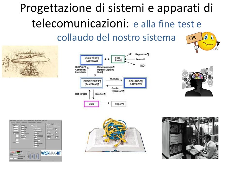 Progettazione di sistemi e apparati di telecomunicazioni: e alla fine test e collaudo del nostro sistema