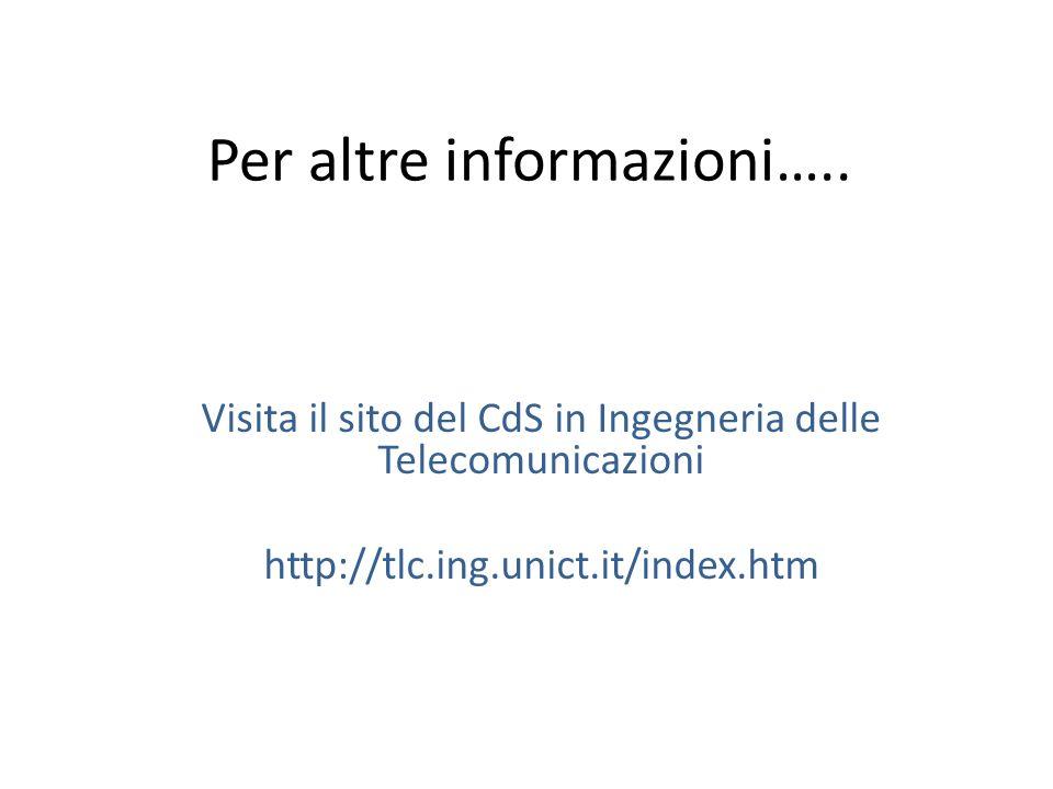 Per altre informazioni…..