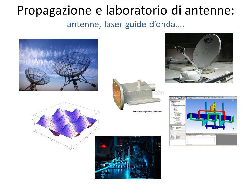 Propagazione e laboratorio di antenne: antenne, laser guide d'onda….