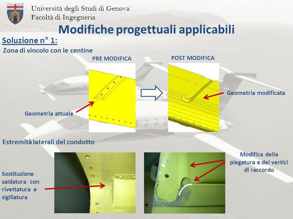 Modifiche progettuali applicabili