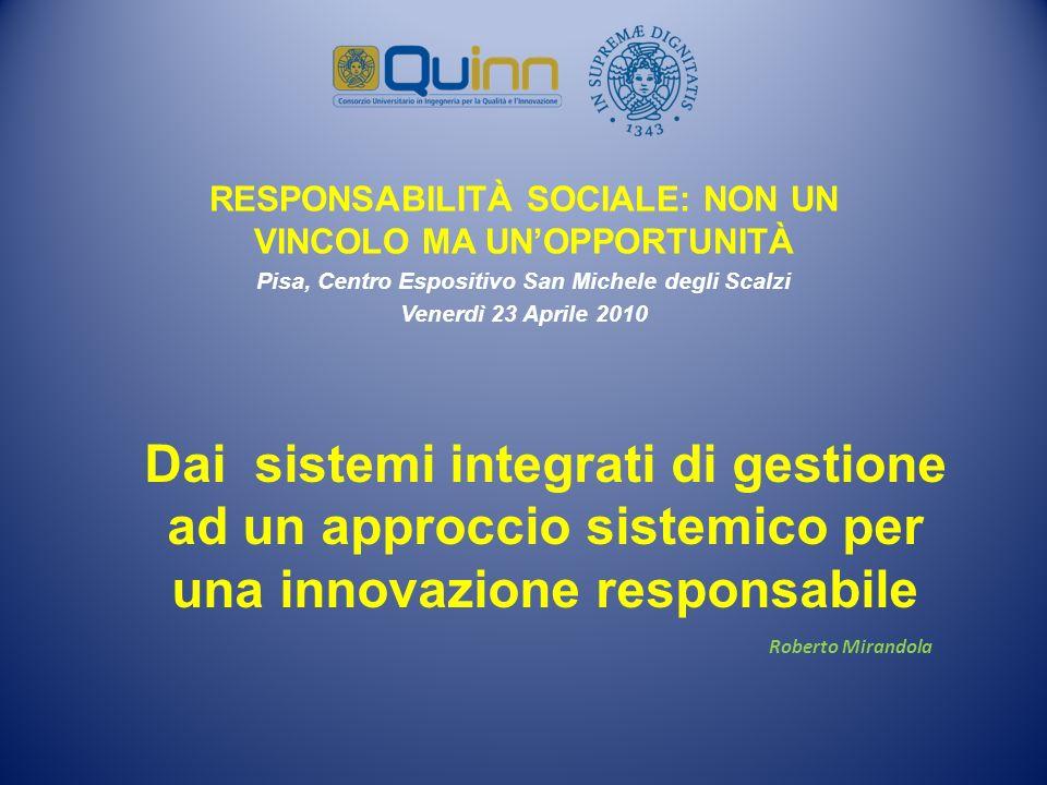 RESPONSABILITÀ SOCIALE: NON UN VINCOLO MA UN'OPPORTUNITÀ