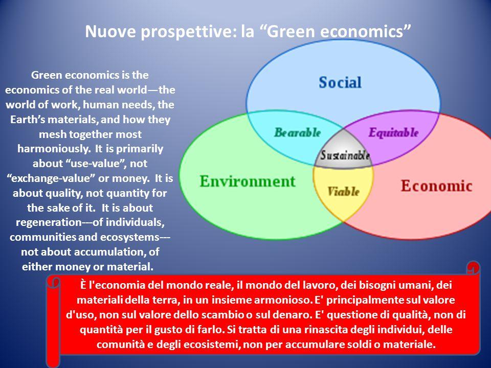 Nuove prospettive: la Green economics
