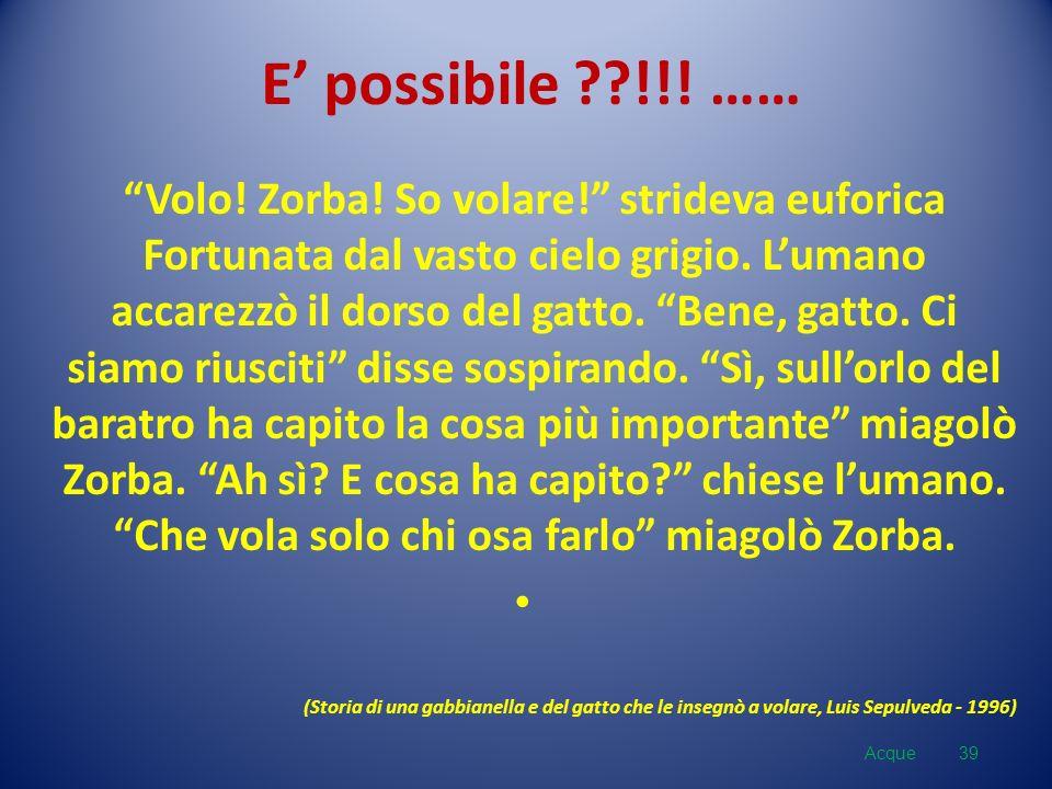 E' possibile !!! ……