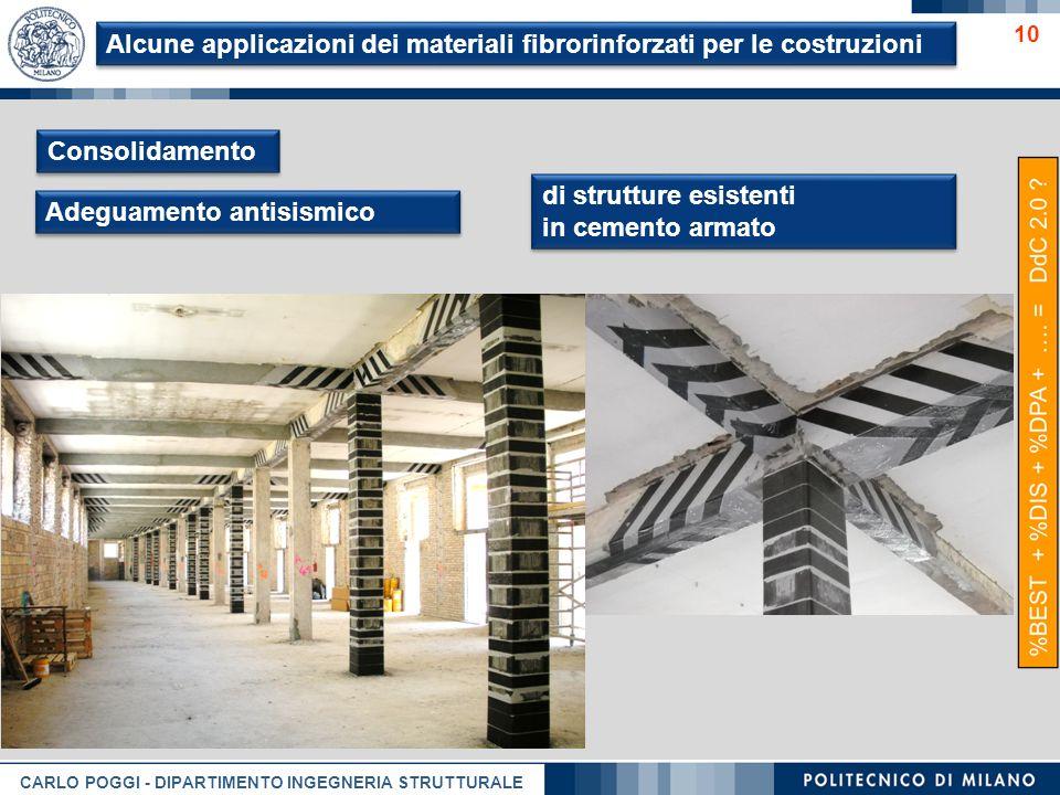 Alcune applicazioni dei materiali fibrorinforzati per le costruzioni