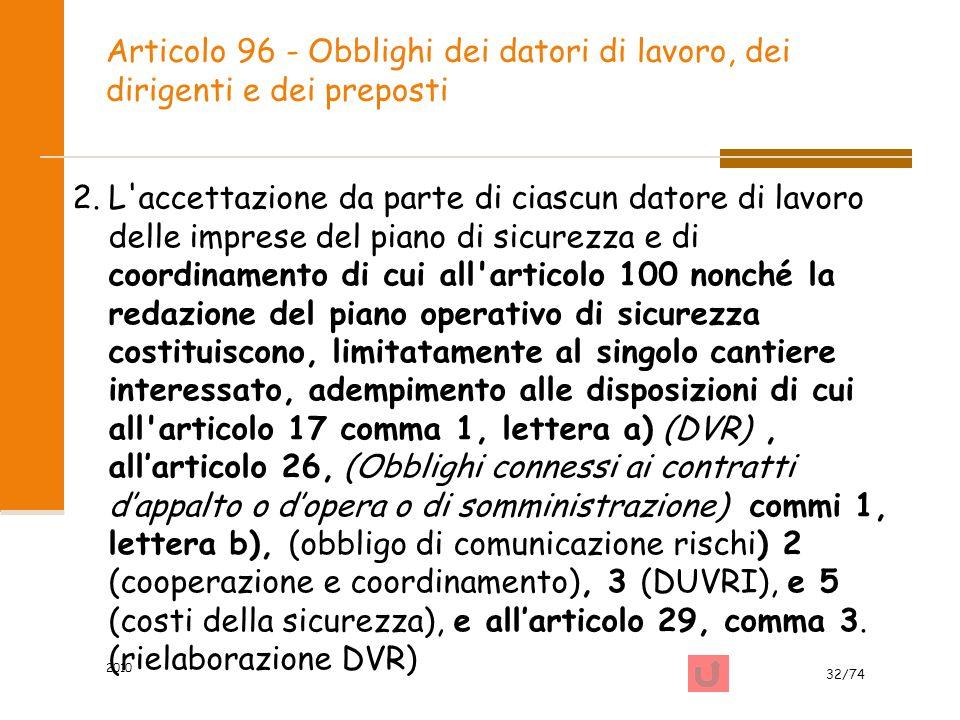 Articolo 96 - Obblighi dei datori di lavoro, dei dirigenti e dei preposti