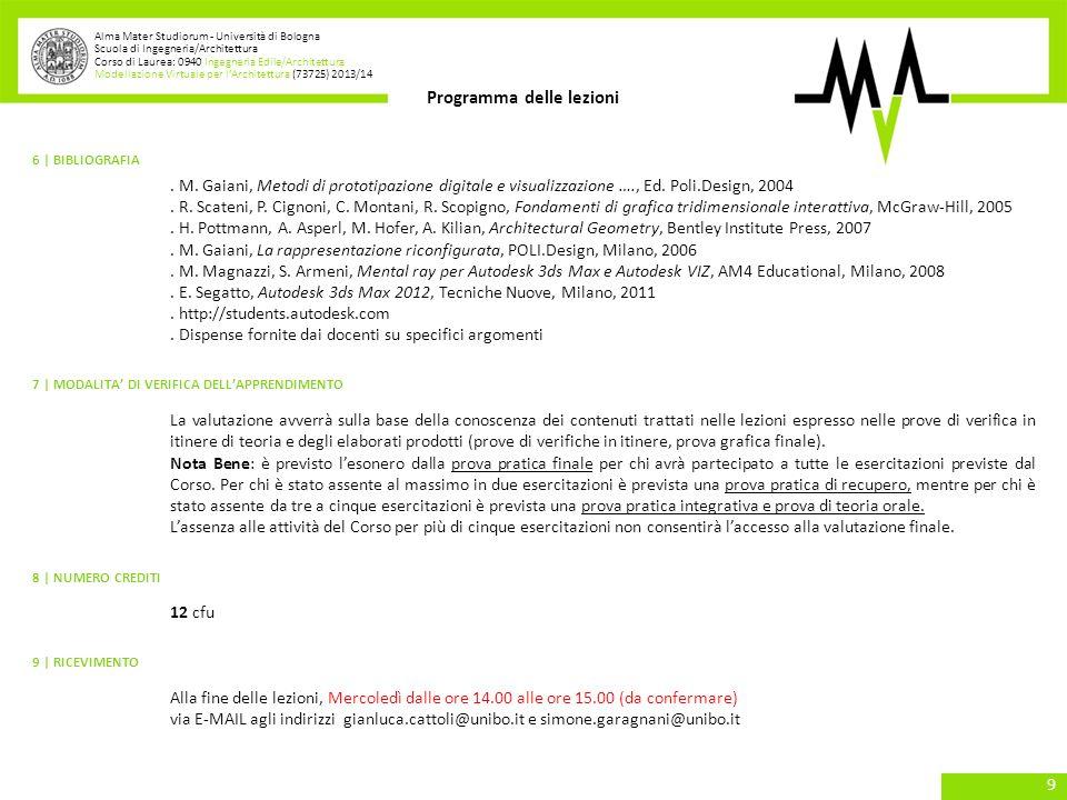 . E. Segatto, Autodesk 3ds Max 2012, Tecniche Nuove, Milano, 2011