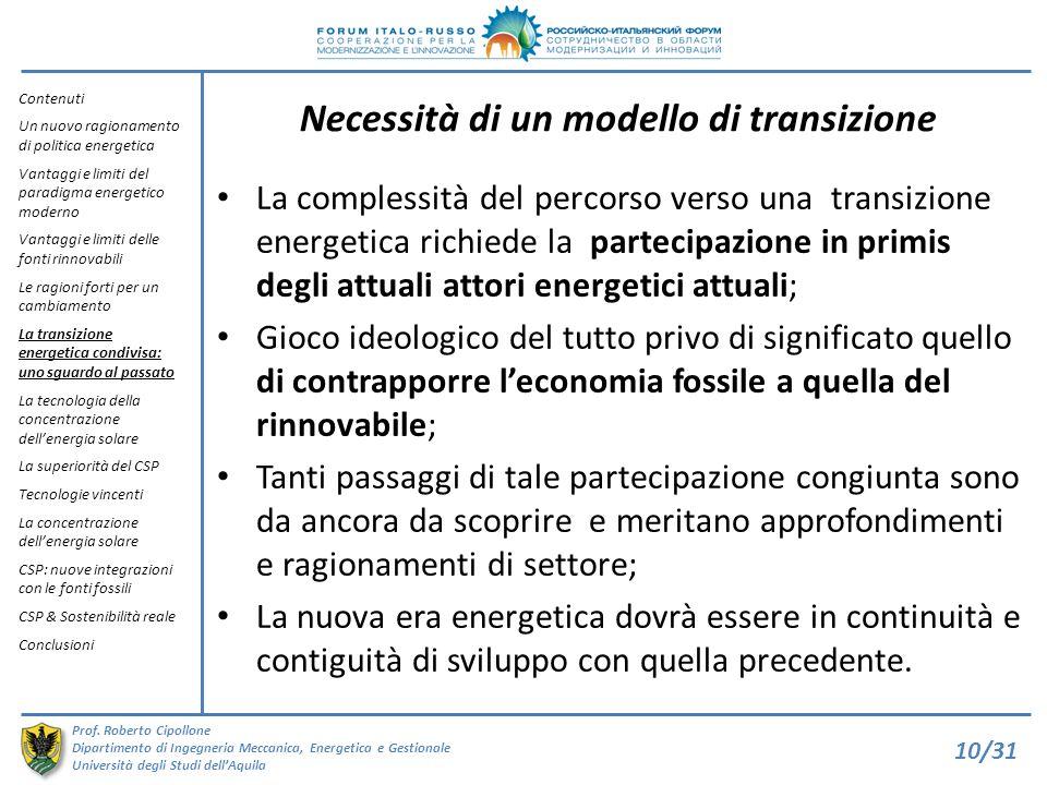 Necessità di un modello di transizione