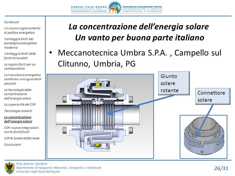 Meccanotecnica Umbra S.P.A. , Campello sul Clitunno, Umbria, PG