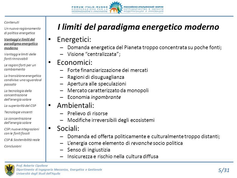 I limiti del paradigma energetico moderno