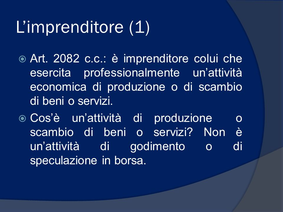 L'imprenditore (1)