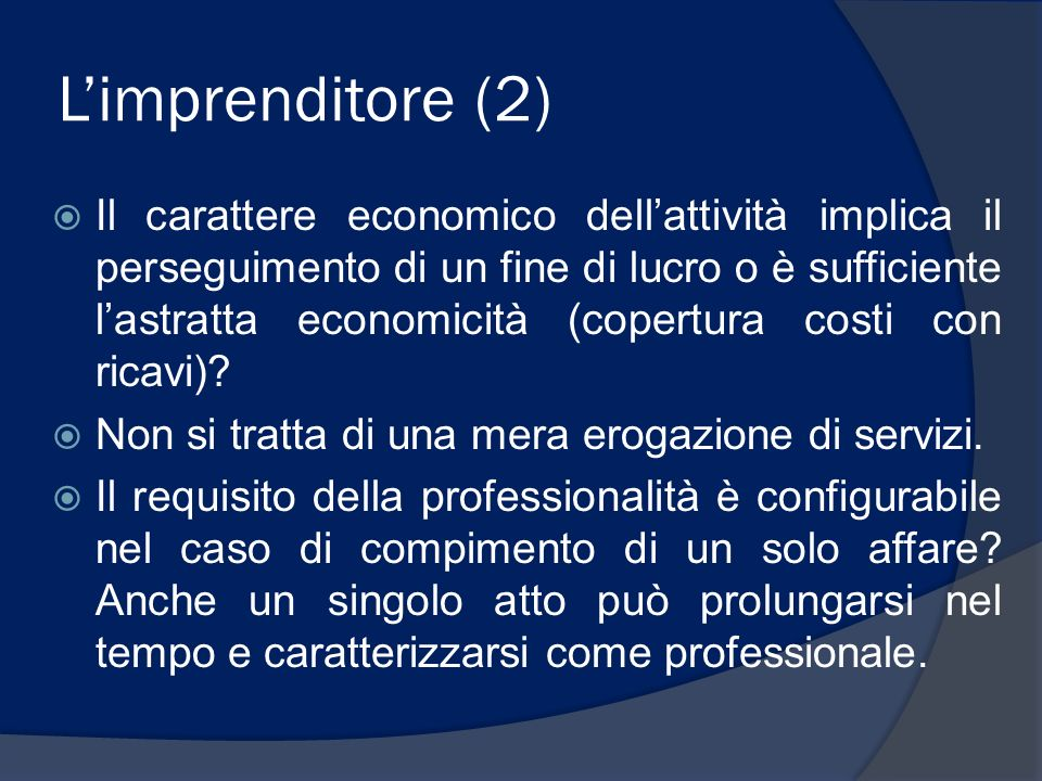 L'imprenditore (2)