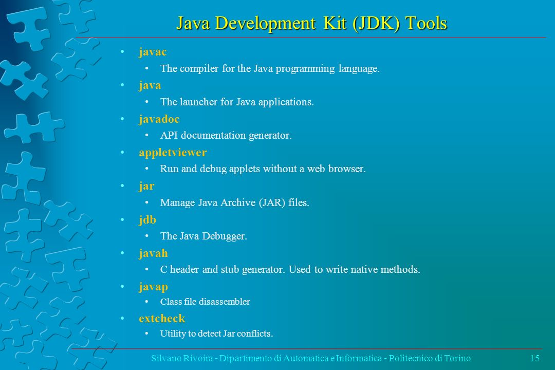 Java Development Kit (JDK) Tools