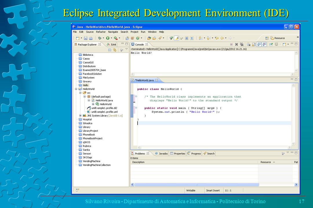 Eclipse Integrated Development Environment (IDE)