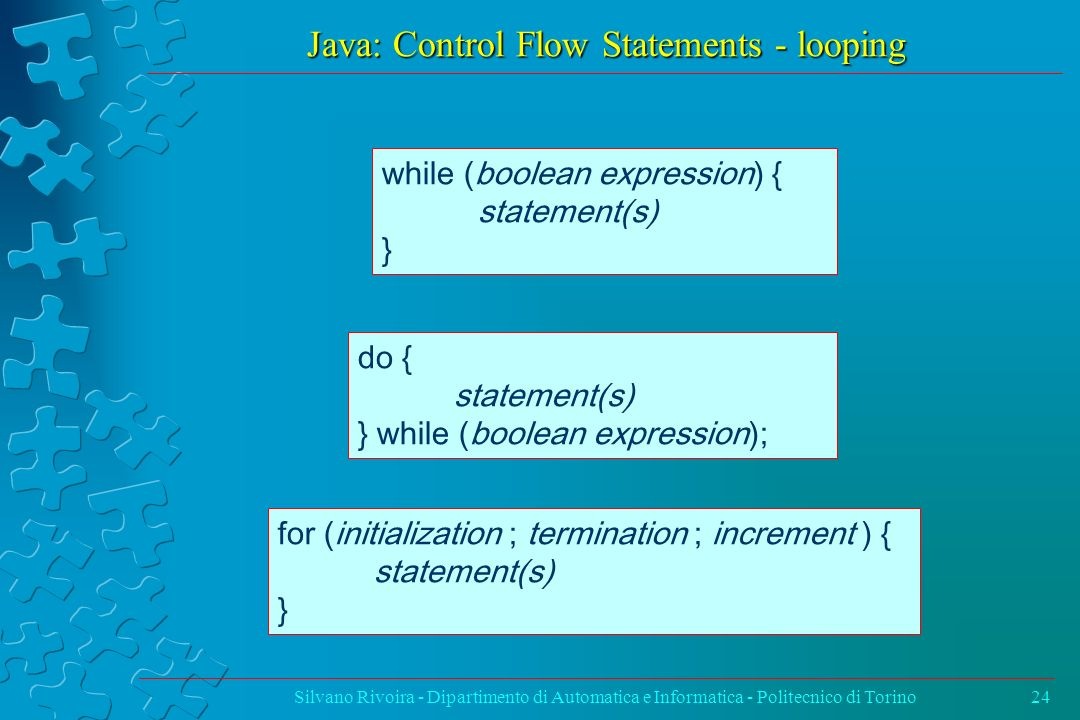 Java: Control Flow Statements - looping