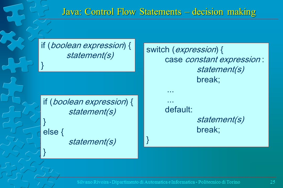 Java: Control Flow Statements – decision making