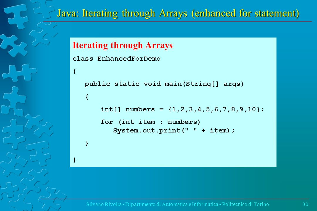 Java: Iterating through Arrays (enhanced for statement)