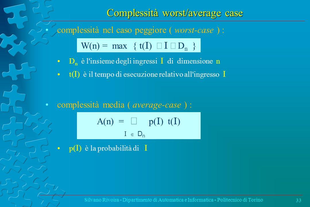 Complessità worst/average case