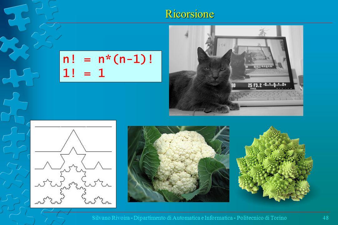 Ricorsione n. = n*(n-1). 1. = 1.