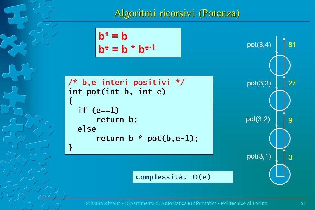Algoritmi ricorsivi (Potenza)