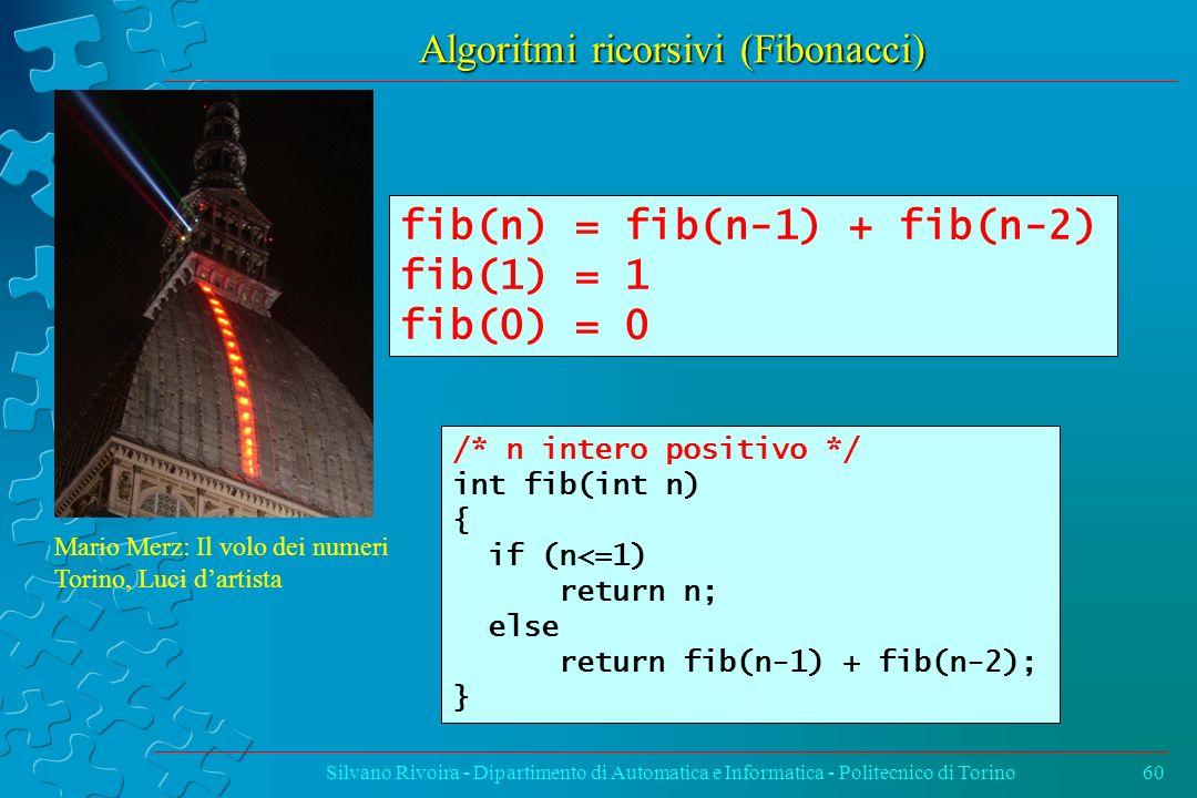 Algoritmi ricorsivi (Fibonacci)