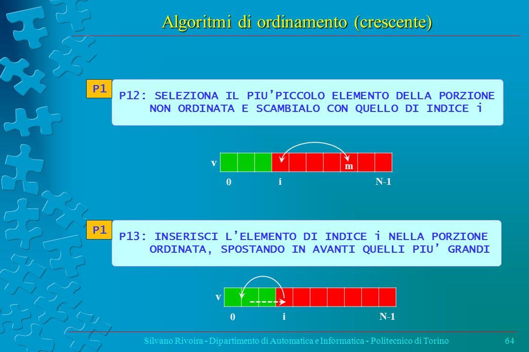 Algoritmi di ordinamento (crescente)
