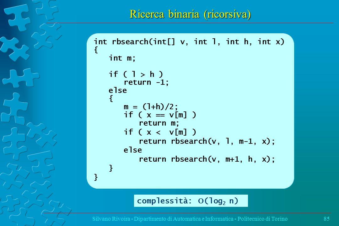 Ricerca binaria (ricorsiva)