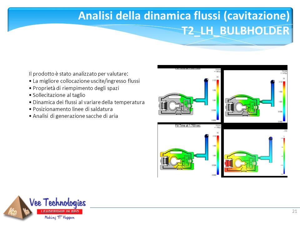 Analisi della dinamica flussi (cavitazione) T2_LH_BULBHOLDER