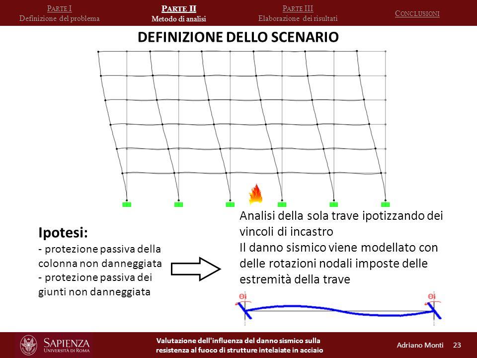 DEFINIZIONE DELLO SCENARIO
