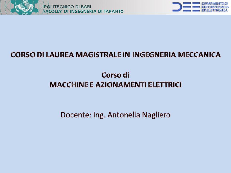 CORSO DI LAUREA MAGISTRALE IN INGEGNERIA MECCANICA Corso di