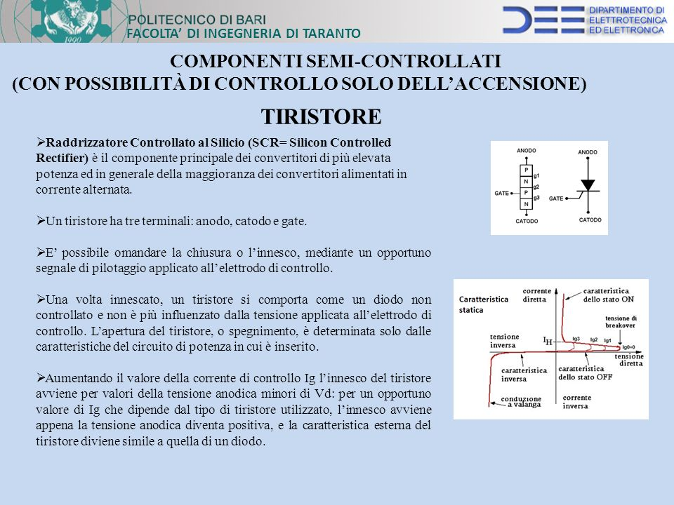 COMPONENTI SEMI-CONTROLLATI