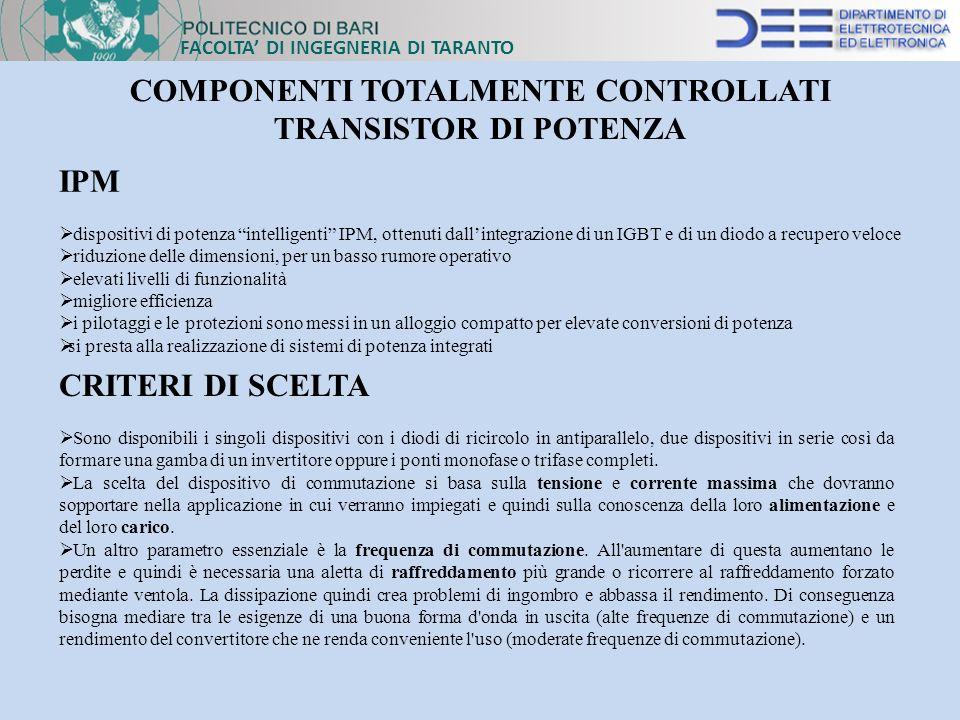 COMPONENTI TOTALMENTE CONTROLLATI